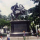 At the Statue of S�mon Bolivar in Venezuela